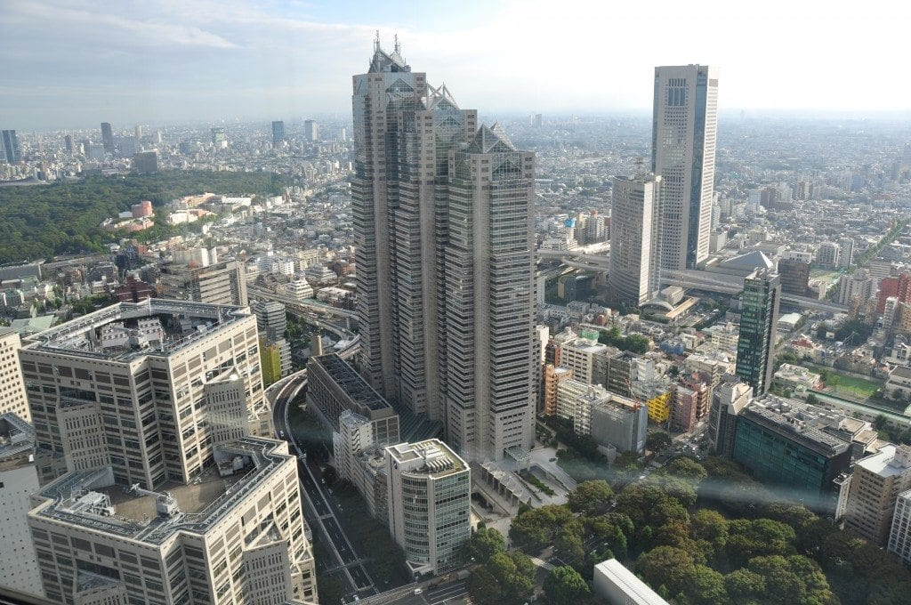 Tokio gratis Oficinas del Gobierno Metropolitano