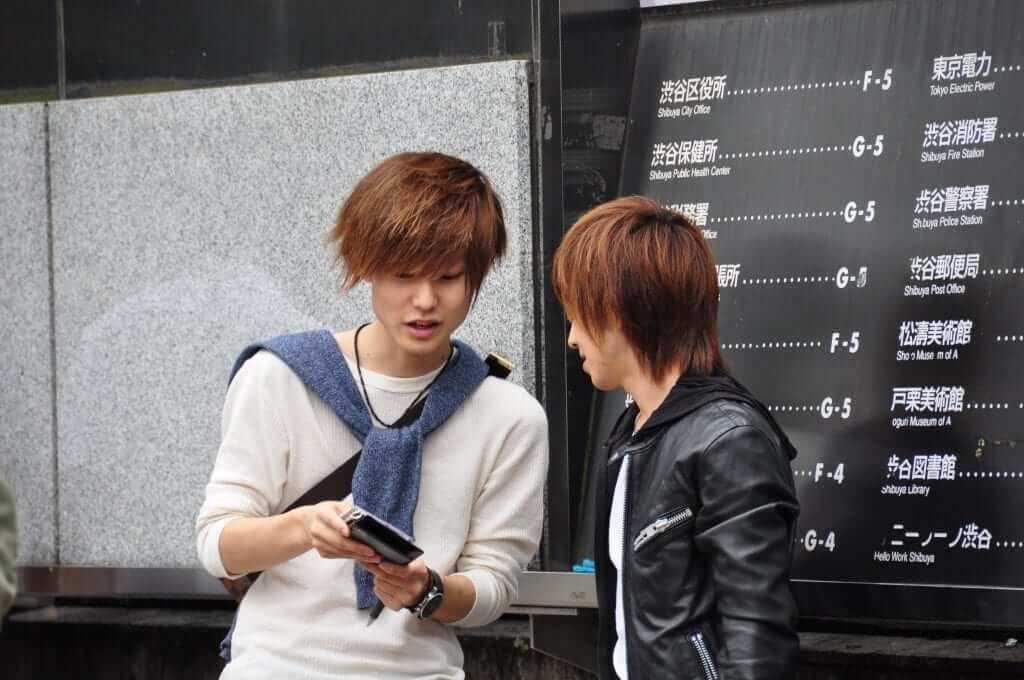Japoneses en Shibuya