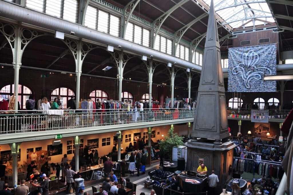 Bruselas vintage Mercado de St. Gery