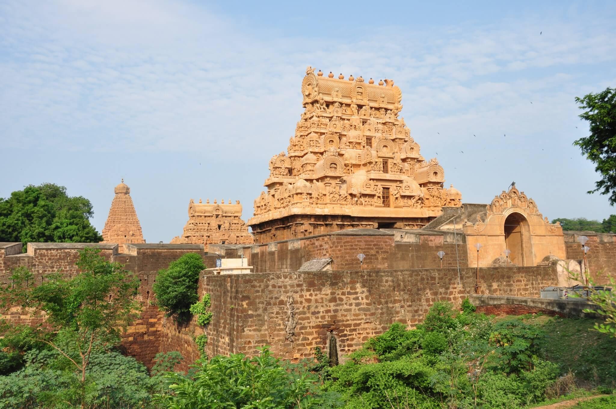 Tamil Nadu templo de Brihadishawara Tanjore