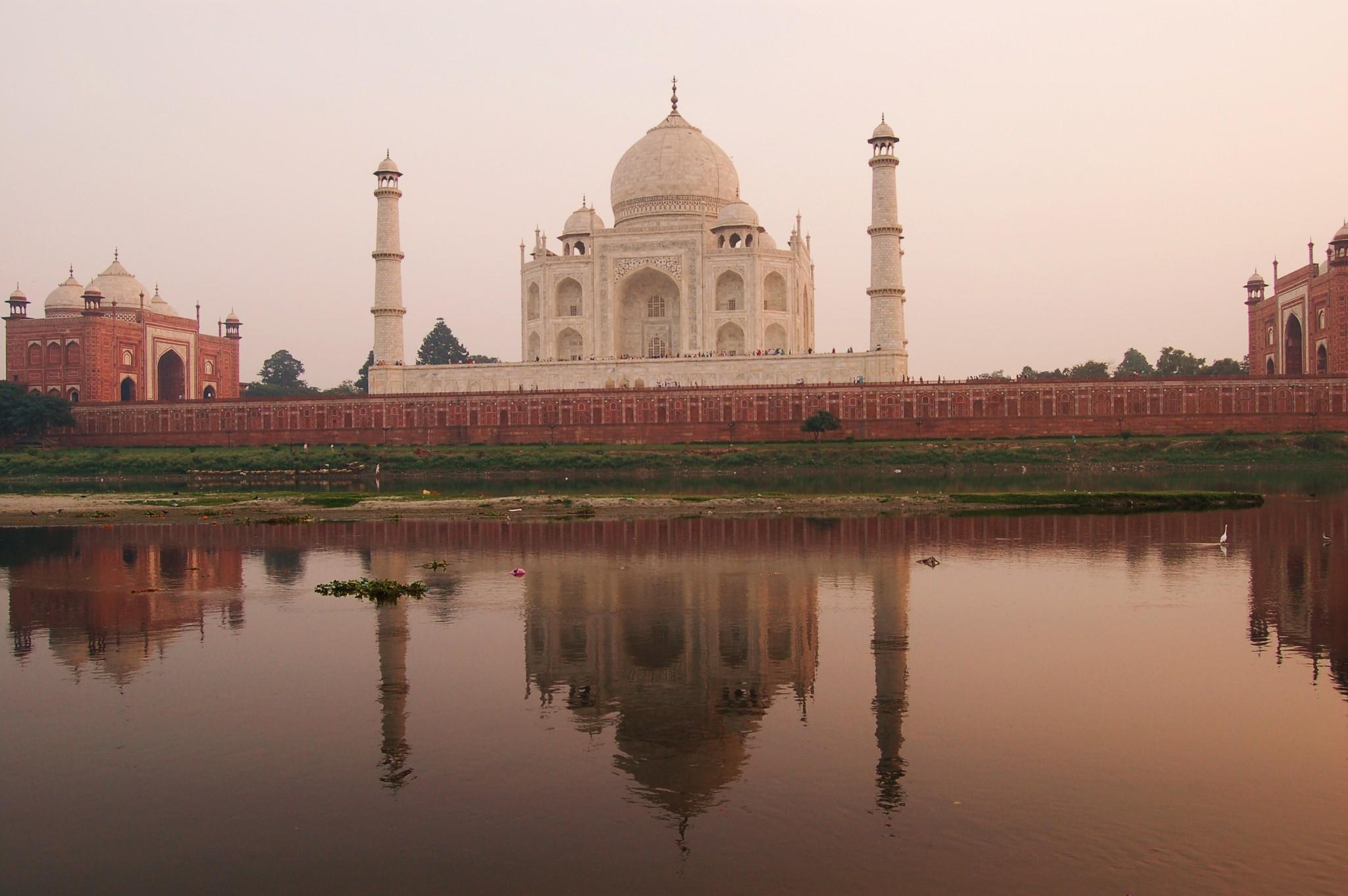 Agra Atardecer en el Taj Mahal