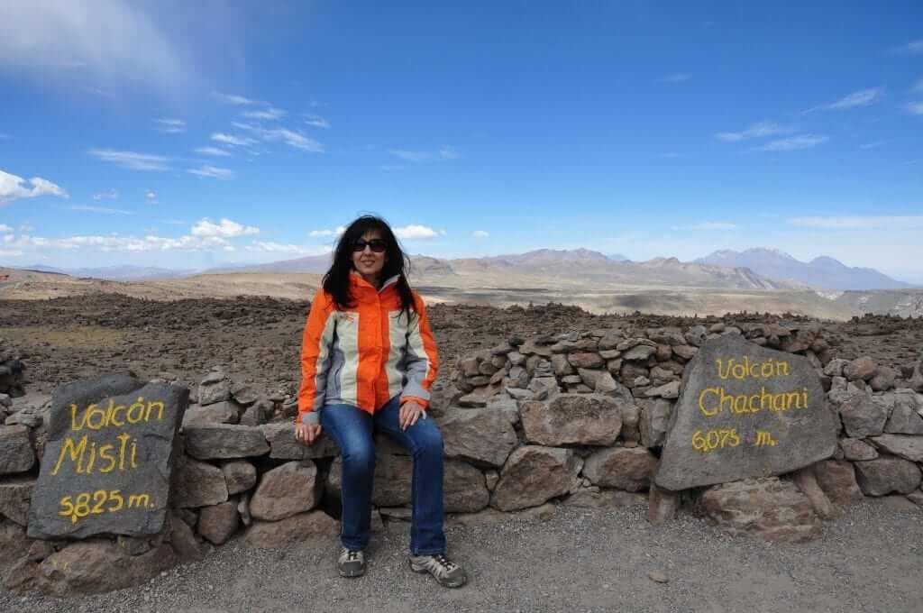 Cañón del Colca, parada en el mirador de los volcanes