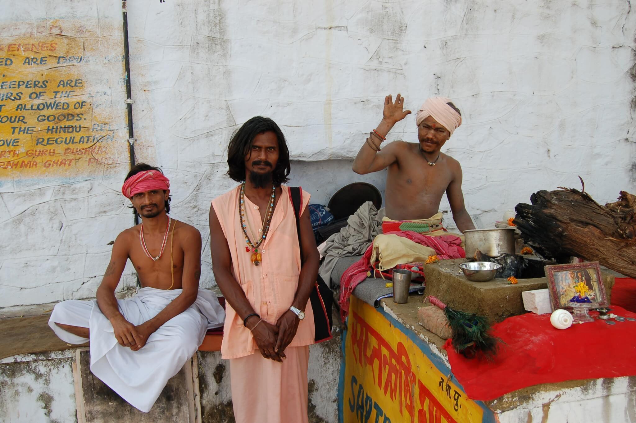 Pushkar, sadhus