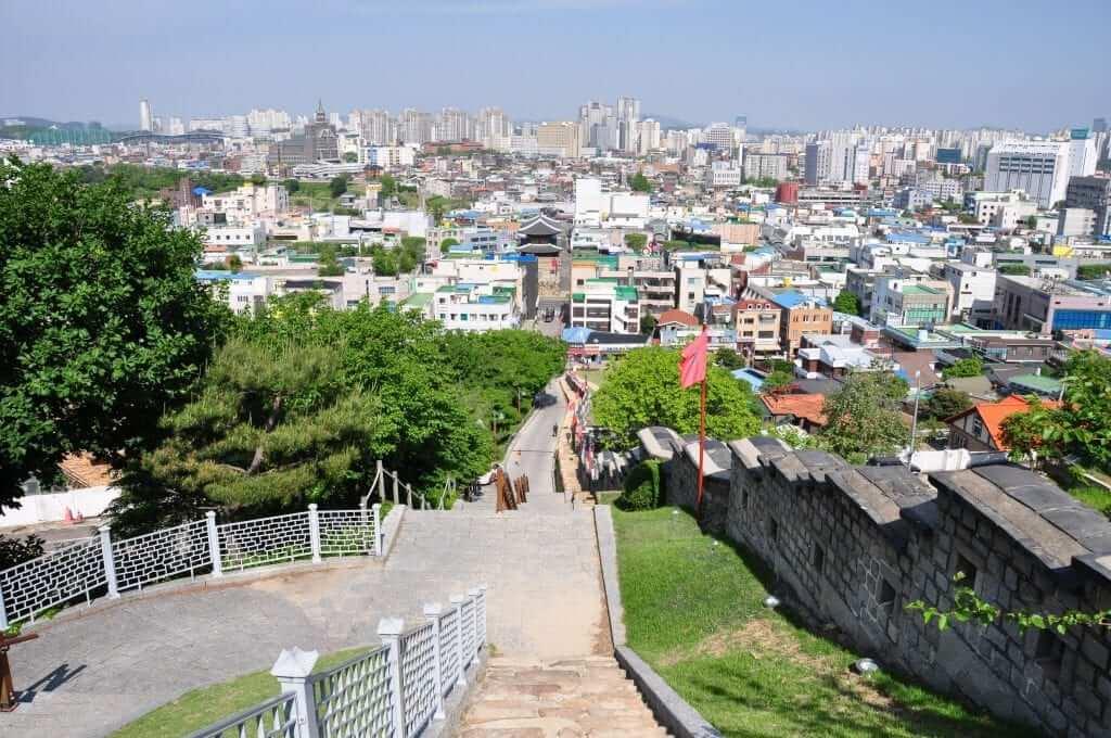 Suwon vista de la ciudad